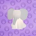 Elefante piccolo da parete
