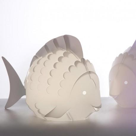 Table lamp in fish shape white children lamps led light fish family aloadofball Images